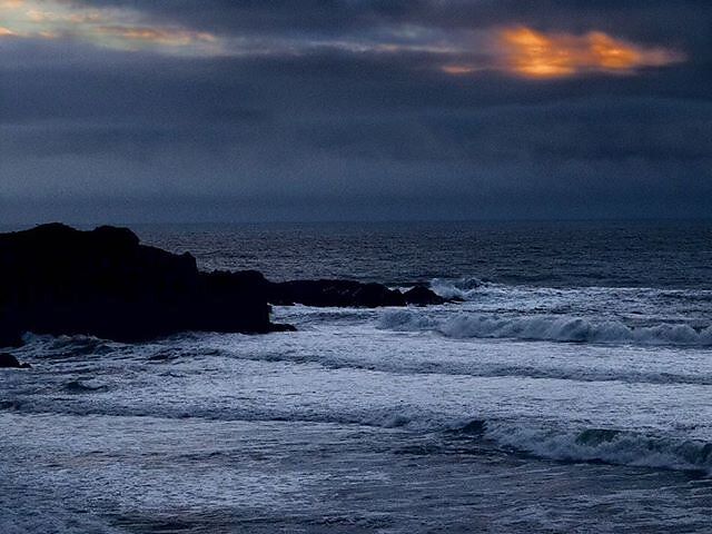 Sun setting over the Pacific near Sea Ranch, Mendocino County